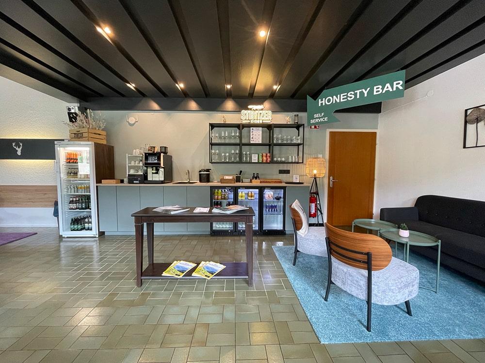 honesty bar hotel russbach