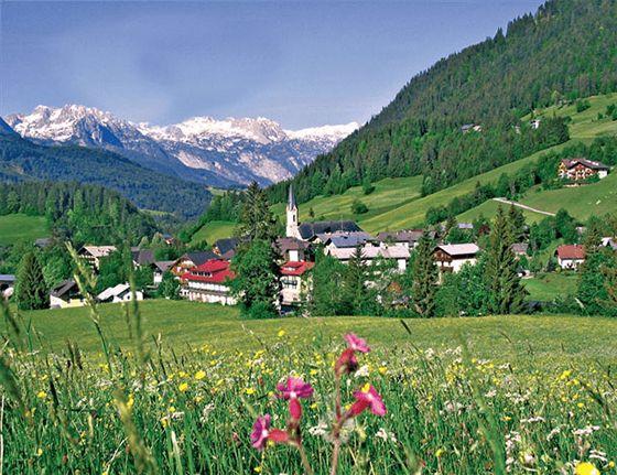 Aussicht Russbach Dachstein West