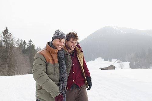 gay couple winter holiday salzburg