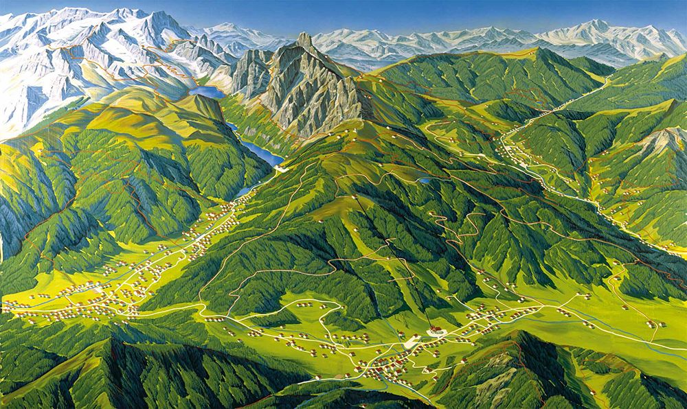 Wandern Dachstein West Karte