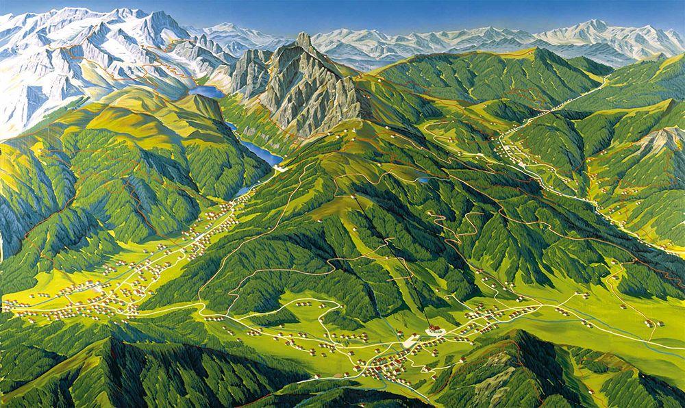 Pěší mapa Dachstein West